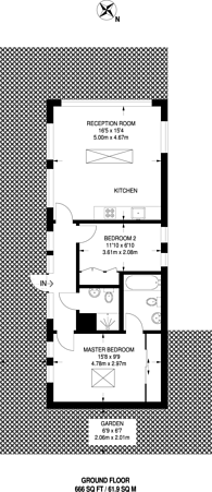 Large floorplan for Gloucester Place, Marylebone, NW1