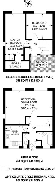 Large floorplan for James Bedford Close, Pinner, HA5
