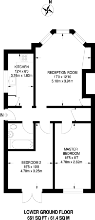 Large floorplan for Worple Road, West Wimbledon, SW20