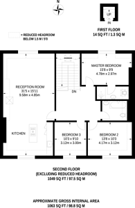 Large floorplan for Enmore Road, South Norwood, SE25