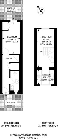 Large floorplan for Clifden Road, Hackney, E5