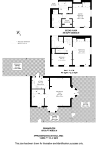 Large floorplan for Limerston Street, Chelsea, SW10