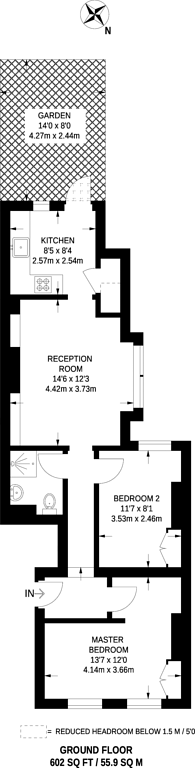Large floorplan for Garratt Terrace, Tooting, SW17