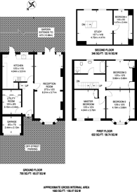 Large floorplan for Culverden Road, Balham, SW12