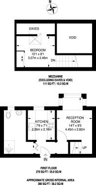 Large floorplan for De Beauvoir Place,Tottenham Road, De Beauvoir Town, N1