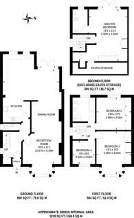 Large floorplan for Singleton Scarp, Woodside Park, N12