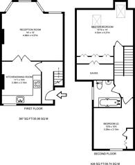 Large floorplan for Elspeth Road, Clapham Junction, SW11