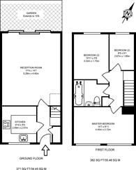 Large floorplan for Campbell Close, Streatham, SW16