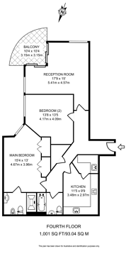 Large floorplan for Beckford Close, Kensington, W14