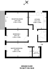 Large floorplan for Brondesbury Park, Brondesbury Park, NW6