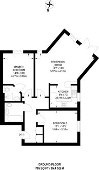 Large floorplan for Spottiswood Court, Croydon, CR0