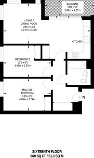 Large floorplan for Ruskin Square, Croydon, CR0