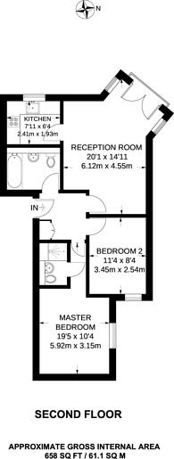 Large floorplan for Harlinger Street, Woolwich, SE18