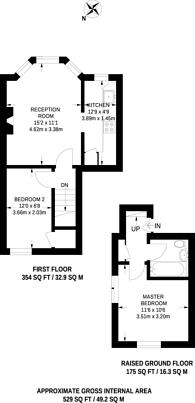 Large floorplan for Birnam Road, Finsbury Park, N4