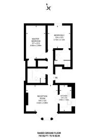 Large floorplan for Edith Road, West Kensington, W14