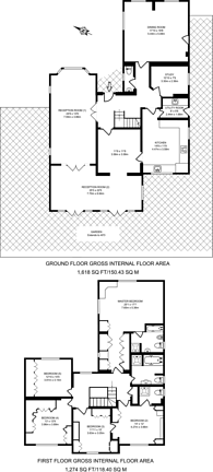 Large floorplan for Vicarage Close., Worcester Park, KT4