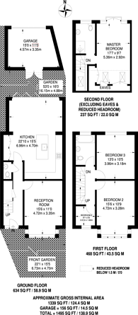 Large floorplan for Derrick Road, Beckenham, BR3