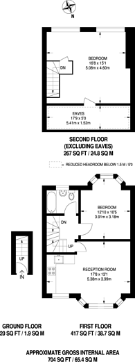 Large floorplan for Prince of Wales Road, Sutton, SM1