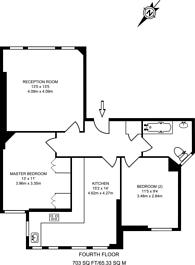 Large floorplan for Lurline Gardens, Battersea, SW11
