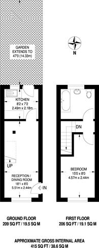 Large floorplan for Sandringham Crescent, Rayners Lane, HA2
