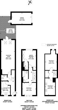 Large floorplan for Cuddington Avenue, Worcester Park, KT4