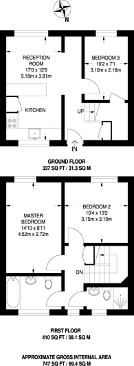 Large floorplan for Keevil Drive, Southfields, SW19