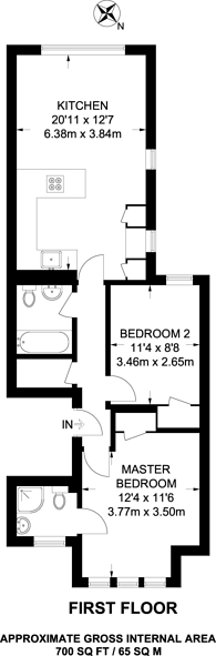 Large floorplan for Cavendish Road, Clapham South, SW12