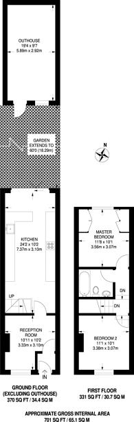 Large floorplan for Maynard Road, Walthamstow Village, E17
