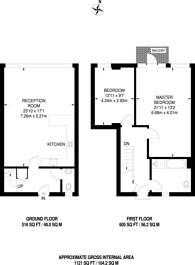 Large floorplan for Bell Yard Mews, Southwark, SE1