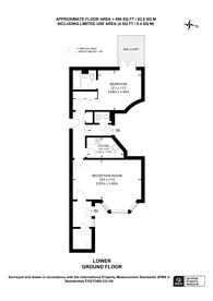 Large floorplan for Hans Road, Knightsbridge, SW3