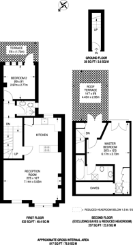 Large floorplan for Ingelow Road, Diamond Conservation Area, SW8