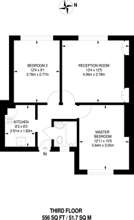 Large floorplan for Digby Street, Bethnal Green, E2