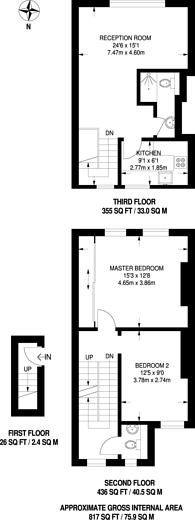 Large floorplan for Ashfield Street, Whitechapel, E1