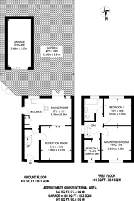 Large floorplan for Conway Road, Feltham, TW13