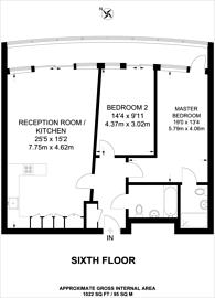 Large floorplan for Bridges Court Road, Battersea, SW11