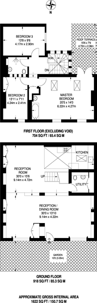 Large floorplan for Vicarage Crescent, Battersea, SW11