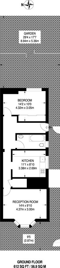 Large floorplan for Falmer Road, Enfield Town, EN1