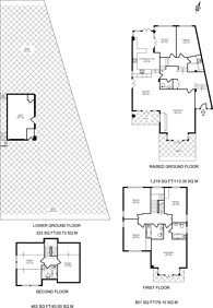 Large floorplan for Cottenham Park Road, West Wimbledon, SW20