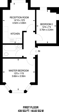 Large floorplan for Great Western Road, Maida Vale, W9