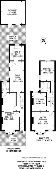Large floorplan for Palmerston Road, Walthamstow, E17