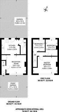 Large floorplan for Aschem End, Walthamstow, E17
