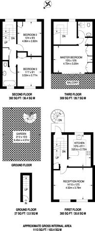 Large floorplan for Gayton Road, Hampstead, NW3