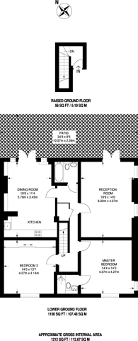 Large floorplan for Balham Grove, Balham, SW12