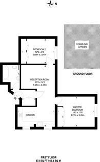 Large floorplan for Mount Ephraim Road, Streatham Hill, SW16