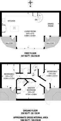Large floorplan for North Eyot Gardens, Stamford Brook, W6