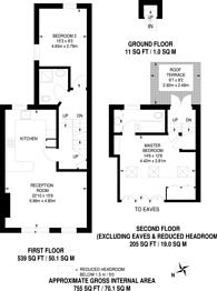 Large floorplan for Shuttleworth Road, Battersea Park, SW11