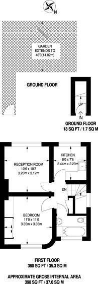Large floorplan for Holyrood Avenue, Harrow, HA2