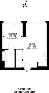 Large floorplan for Lampton Road, Hounslow, TW3