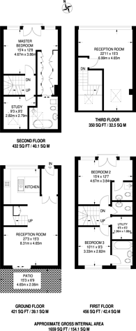 Large floorplan for Wellington Road, Kensal Rise, NW10
