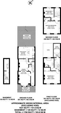 Large floorplan for Perth Road, Stroud Green, N4